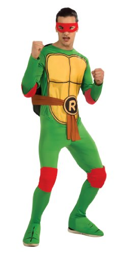 [Nickelodeon Ninja Turtles Adult Raphael and Accessories, Green, Standard Costume] (Adult Ninja Turtle)
