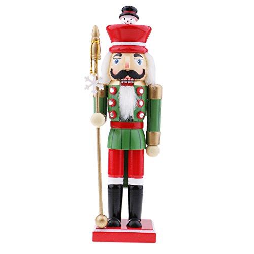 D DOLITY Marionetas de Madera de Cascanueces Figura del Soldado Juguetes de Niños Regalos de Navidad Decoración de Mesa...