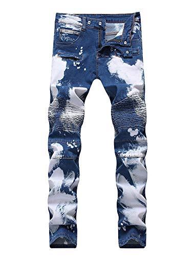 Blanqueamiento Jeans Recto 1 Pantalones Alta Hombre Versaces Ocio ...