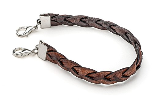 Twisted Leather Medical ID Interchangeable Replacement Bracelet - Brown (S ()