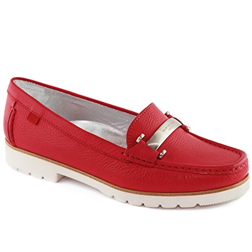 Women's Genuine Leather Made in Brazil Tribeca Bit Buckle Loafer Marc Joseph NY Fashion Shoes Red Grainy outlet top quality outlet footaction perfect sale online sale from china 2sbjGM