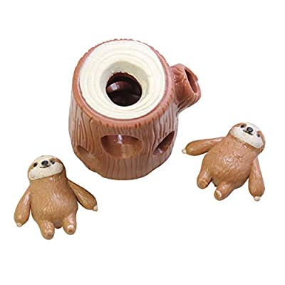 Curious Minds Busy Bags Sloths in Tree Stump - Peek a Boo Stretchy Fidget Toy - Soothing Calm Anxiety Focus ADD ADHD: Toys & Games