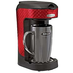 How Many Scoops In Coffee Maker : Amazon.com: Bella One Scoop One Cup Single Serve Coffee Maker with Mug - Red 3D Square: Kitchen ...