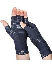 COPPER HEAL Arthritis Compression Gloves - Gloves Rheumatoid Arthritis, Carpal Tunnel, RSI , Osteoarthritis & Tendonitis - Open Finger