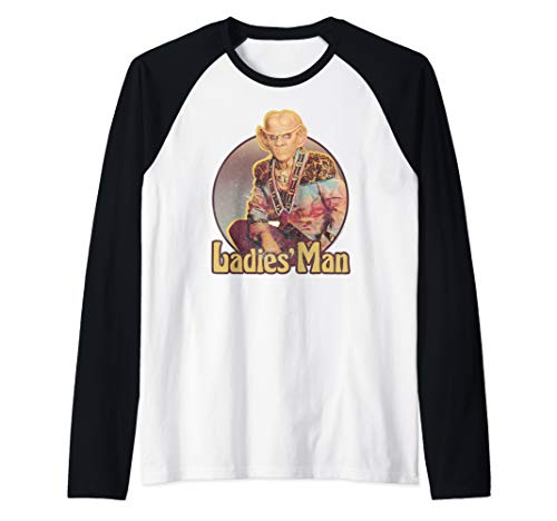 Star Trek DS9 Quark Ladies' Man Retro Raglan Baseball Tee