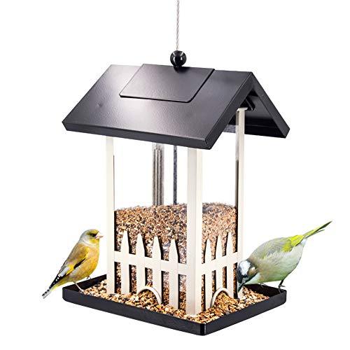 - Sungmor Black White Baking Varnish Metal Bird Feeder for Outside | 11.6