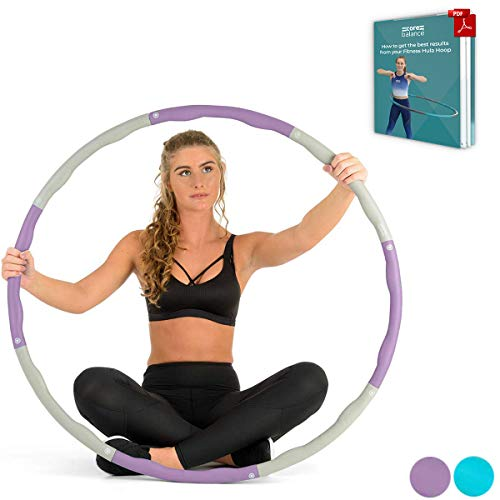 Pink - Grey EVER RICH FitnessWave Weighted Fitness Exercise Hula Hoop