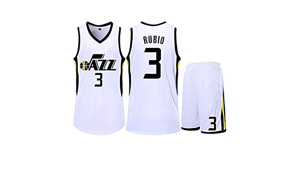 HS-ZGC - Camiseta de Baloncesto para Hombre de la NBA Phoenix Suns, Ricky Rubio # 3 Fans Sportswear sin Mangas, Color Blanco, Talla 3XS ~ 5XL, 4XL(180~185cm): Amazon.es: Hogar