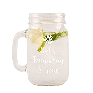 Personalised Engraved Tanqueray Gin Tonic Glass Mason