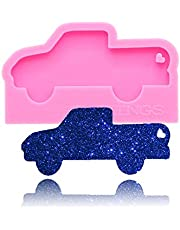 Pick-UP Minivan Car Shaped Keychain Silicone Mold with Hole DIY Cupcake Cake Topper Decoration Candy Crystal Ice Cream Pudding Jelly Shots Desserts Fondant Mold Gum Paste