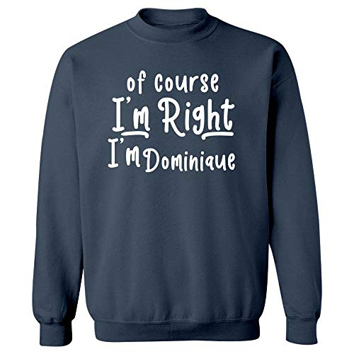 MESS of Course I'm Right I'm Dominique - Sweatshirt Navy