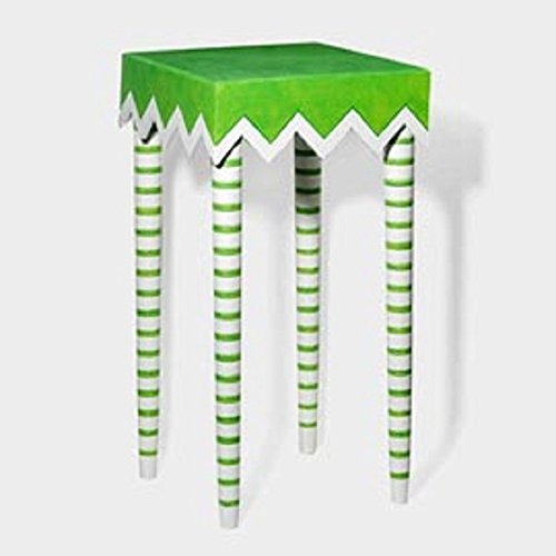 Patience Brewster Krinkles by Department 56 Striped Leg Square Table 34'' 56.36608