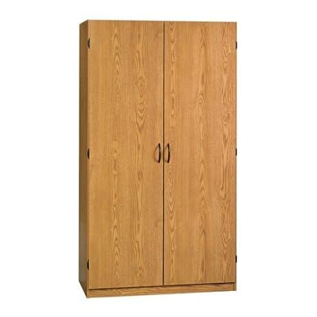 oak home or office storage cabinet organizer coat closetwardrobe unit