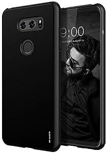 LG V30 Case, As-Guard Ultra [Slim Thin] Flexible TPU Gel Rubber Soft Skin Silicone Protective Case Cover For LG V30 / LG V30 Plus (Black)