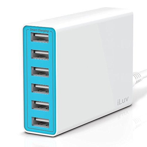 iLuv 6-Port 10-Amp Portable USB AC Charger - Retail Packaging
