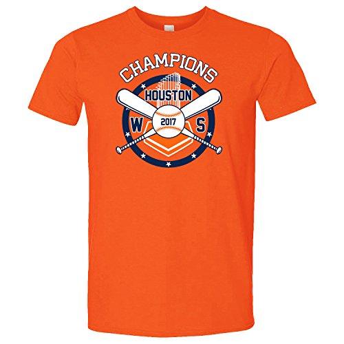 Houston Strong 2017 WS Champions T-Shirt (Orange, M)