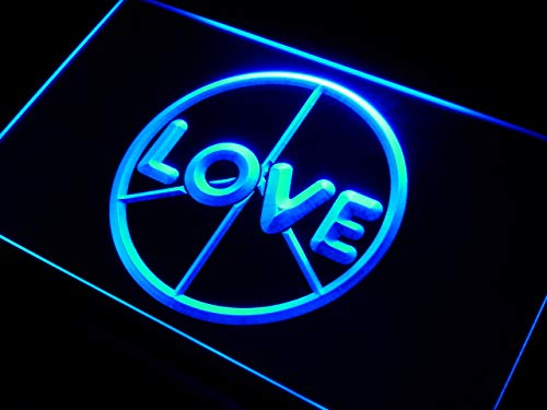 ADVPRO Cartel Luminoso i450-b Love Peace Display Neon Light ...