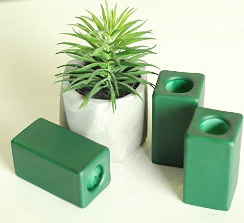 Magik Life Ceramic Candle Holder - Small Kitchen Decorations Candlesticks Holders - Pillar Candle Holder - Decorative Candle Sticks - Tall Candle Holders 1 PCS (Green)