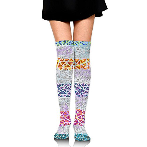 Yeah Gestures Over The Knee Long Socks Tube Thigh-High Sock Stockings For Girls & Womens -