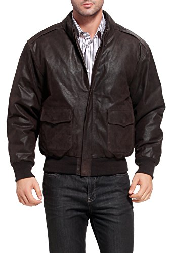 Landing Leathers Air Force Men's A-2 Distressed Leather Flight Jacket - XL