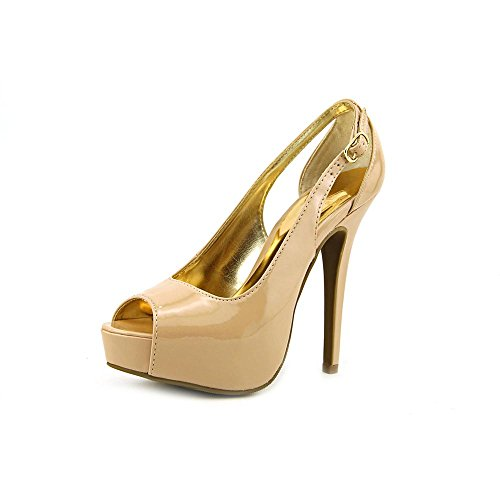 para vestir Material Girl Nude Patent mujer 80s crudo de Zapatos qXWIT