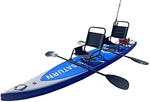 SATURN 12 Racing SUP Inflatable Stand Up Paddle Boards. Can be Used as sin-on-top Kayak