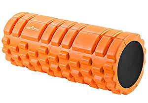 "Foam Roller for Physical Therapy, Myofascial Release & Exercise for Muscles with Soft Deep-Tissue Massage - Best for Stretching, Tension Release, Cramp Relief, Pilates & Yoga - 13"" x 5"", ORANGE"