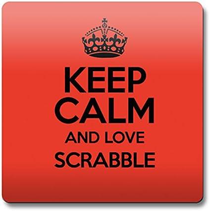 Rojo Keep Calm and Love Scrabble cierre magnético Color 1357: Amazon.es: Hogar