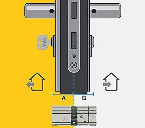 Yale YC500+ 30 x 10 mm YC500+ 30X10 NI Cilindro de cerradura