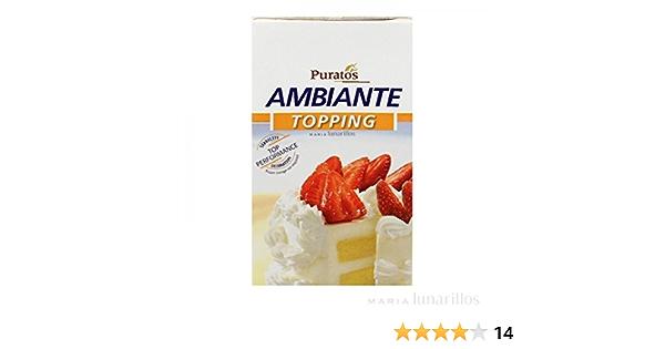Nata Vegetal Puratos 1 Litro - Sin Lácteos: Amazon.es: Hogar