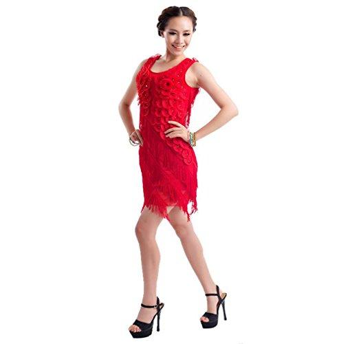OOFAY Flow embroidery take Latin dance dress women's dress , 3 , f (Lotus Lace Flow Womens)