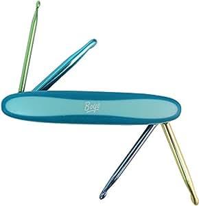 Boye 3396300DFHJA 4-in-1 Crochet Hook Tool, Blue