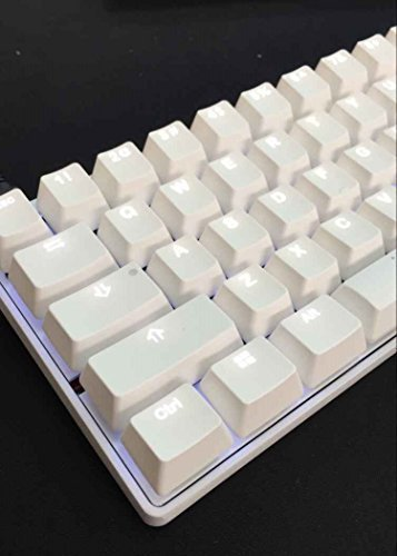 Mechanical Keyboard - KBC Poker 3 - White Case - ABS Dual Coating Keycaps - Cherry Mx-Clear - White backlit [Metal Casing]