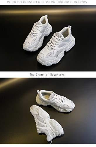 5size 5 Mujer Zapatillas De Costura 7 Salvajes Para Blanca Individuales 7 Con Deportivas Tamaño Aumento La Zhijinli OTIqwxadw
