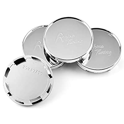 4pcs 54mm(2.13in)/51mm(2.01in) Wheel Hub Center Caps Silver Base for #6LL601171 Ibiza 2006-2015 Exeo 2008-2013 Toledo 2012-2015: Automotive