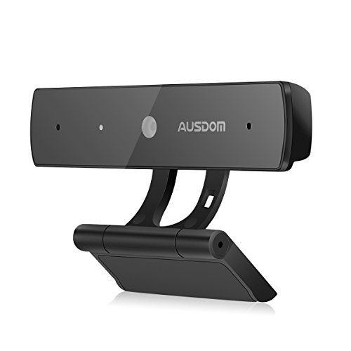 Webcam 1080P, AUSDOM Full HD USB Web Camera Skype Web Cam PC Computer Camera with Mic, Widescreen Video Calling and Recording, Plug&Play, CMOS Sensor, 2M Pixels for Laptop Desktop Mac FaceTime YouTube