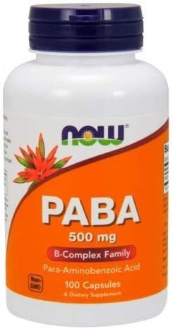 Now Foods PABA, 100 caps / 500 mg ( Multi-Pack)