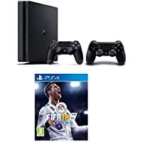 Sony PlayStation 4 500GB Slim with Extra Controller with FIFA 18
