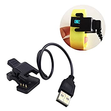 Cewaal TW64 Cable del Cargador del Cargador USB con Adaptador de reemplazo de la Horquilla del Muelle para TW64 Reloj Smart Watch