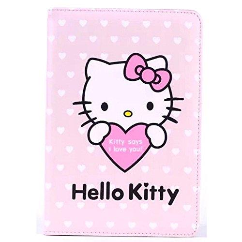 ipad Mini Leather Case,ipad Mini Cartoon Case,WGOOD 3D Cute Cartoon Syle Animal Hold The Heart Hello Kitty PU Leather Protection Skin Case Cover for Apple iPad Mini (Ipad Hello Kitty Cover compare prices)