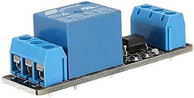 Bleu Noir 12V 1 canal module de relais carte dinterface d/éclencheur de bas niveau optocoupleur pour Arduino SCM PLC Smart Home Remote Control Switch