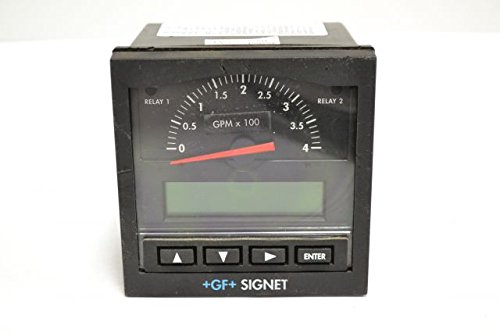 GF SIGNET 3-5500 GEORGE FISCHER FLOW MONITOR METER 12-24V-AC/DC 10A B245437 (5500 Dc Controller)