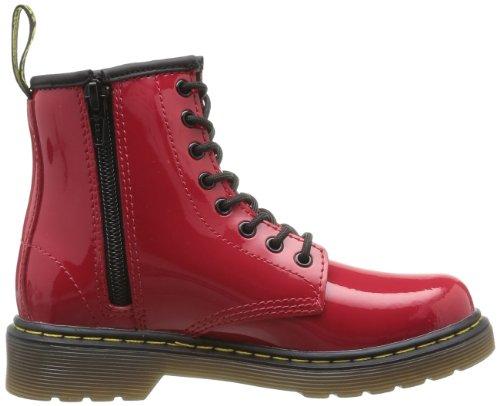 Dr Red DELANEY Stiefeletten amp; Martens Stiefel Rot Mädchen Patent 8wg8xrq