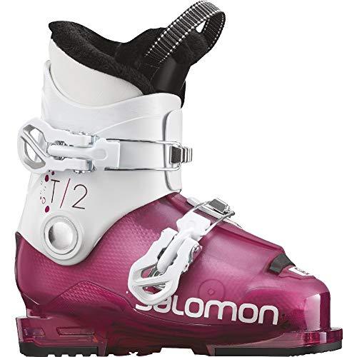 Salomon Girls' T2 RT Ski Boots - Pink/White - (Salomon Kids Ski Boots)