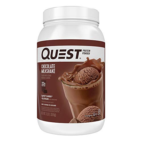 Quest Nutrition Chocolate Milkshake Protein Powder, High Protein, Low Carb, Gluten Free, Soy Free, 3 Pound (Best Low Carb Flour Replacement)