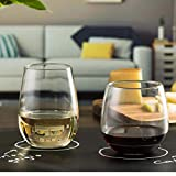Libbey Stemless 12-Piece Wine Glass Party Set for