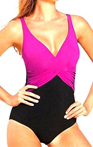 David Salc Women's Sexy Candy Splice Padded Bikini Swimsuit PurpleX-Small -