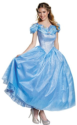 [UHC Disney Princess Cinderella Movie Prestige Fancy Dress Halloween Costume, S (4-6)] (Cheap Adult Disney Princess Costumes)
