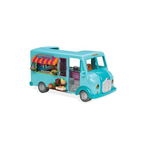 Li'l Woodzeez Animal Figurine Playset and Accessories - Honeysuckle Sweets & Treats Food Truck - 89 Pieces