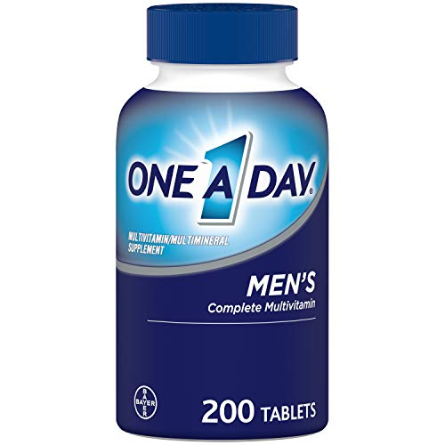 One A Day Men's Multivitamin, Supplement with Vitamin A, Vitamin C, Vitamin D, Vitamin E and Zinc for Immune Health Support, B12, Calcium & More, 200 Count